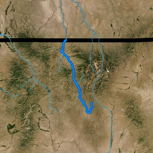 Fly fishing map for Bruneau River, Nevada