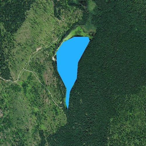 Fly fishing map for Brush Lake, Idaho