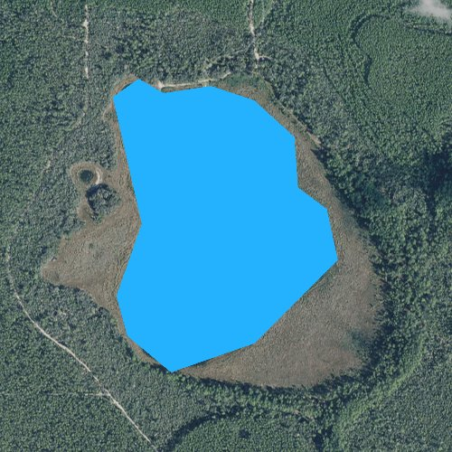 Fly fishing map for Buck Lake, Florida