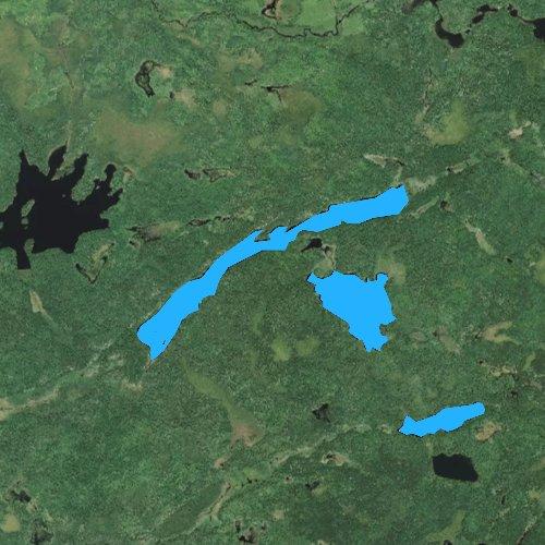 Fly fishing map for Buck Lake, Minnesota