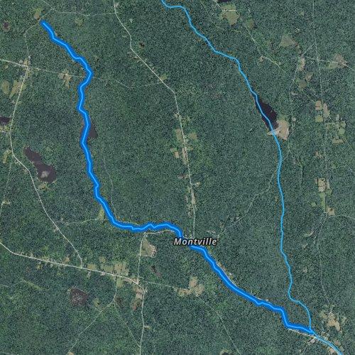 Fly fishing map for Buck River, Massachusetts