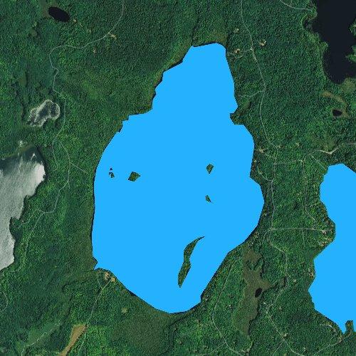 Fly fishing map for Buckskin Lake, Wisconsin