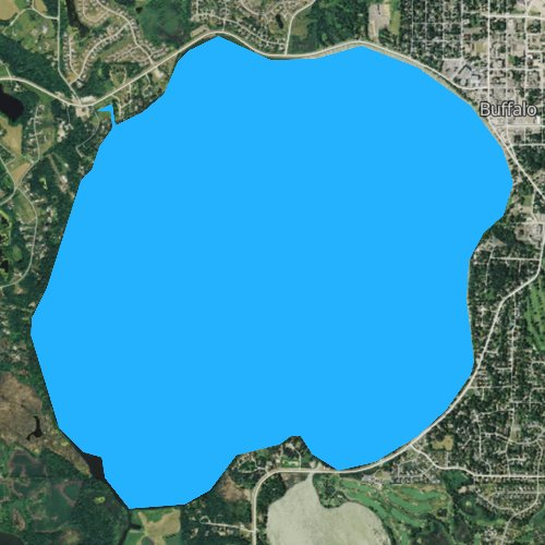 Fly fishing map for Buffalo Lake, Minnesota