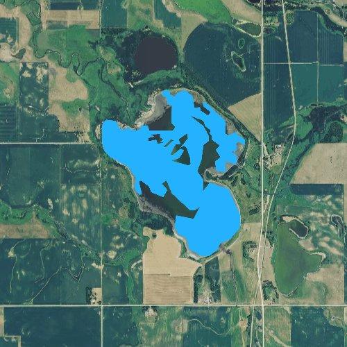 Fly fishing map for Buffalo Slough, South Dakota
