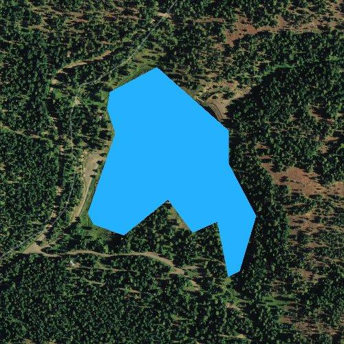 Fly fishing map for Bull Prairie Lake, Oregon