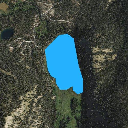 Fly fishing map for Bull Trout Lake, Idaho
