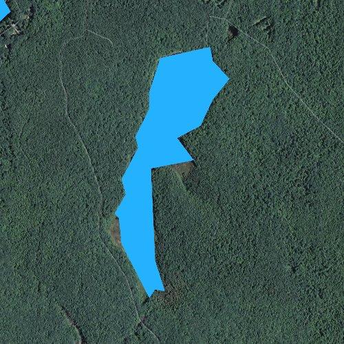 Fly fishing map for Burlingame Reservoir, Rhode Island