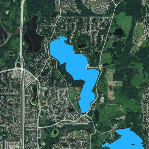 Fly fishing map for Bush Lake, Minnesota