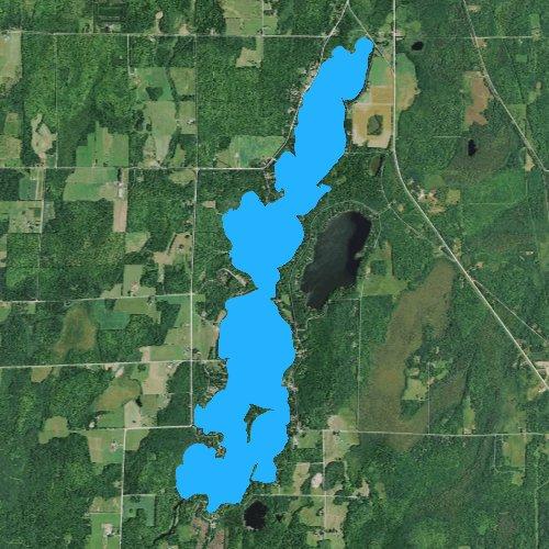 Fly fishing map for Butternut Lake: Ashland, Wisconsin