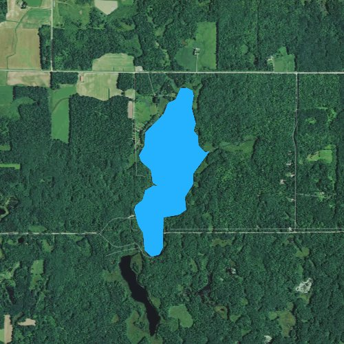 Fly fishing map for Butternut Lake, Wisconsin