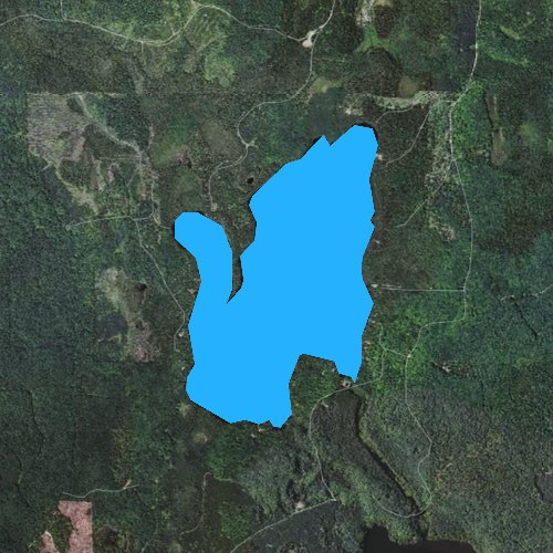 Fly fishing map for Cable Lake, Michigan