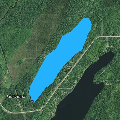 Fly fishing map for Cadotte Lake, Minnesota