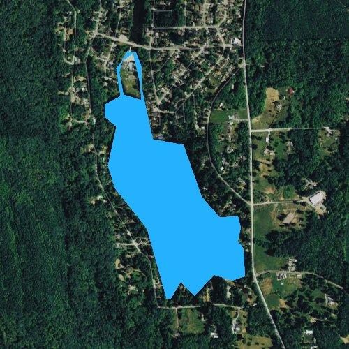 Fly fishing map for Cain Lake, Washington