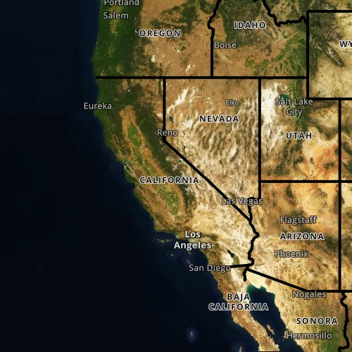 Fly fishing report and map for California.