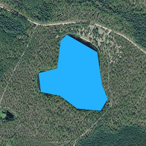 Fly fishing map for Camel Pond, Florida