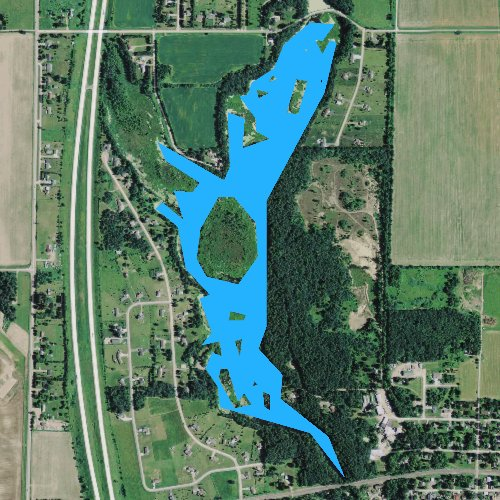 Fly fishing map for Cameron Flowage 5, Wisconsin