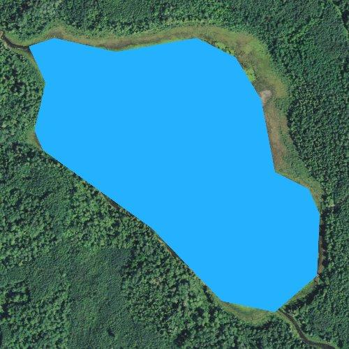 Fly fishing map for Cameron Lake, Minnesota
