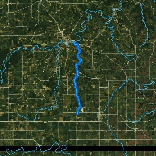 Fly fishing map for Camp Creek, Minnesota