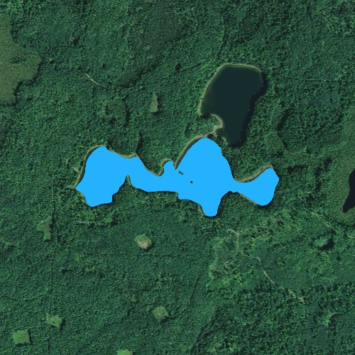 Fly fishing map for Camp Lake: Vilas, Wisconsin