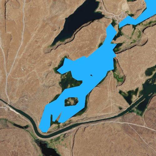Fly fishing map for Canal Lake, Washington