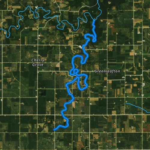 Fly fishing map for Canfield Creek, Minnesota