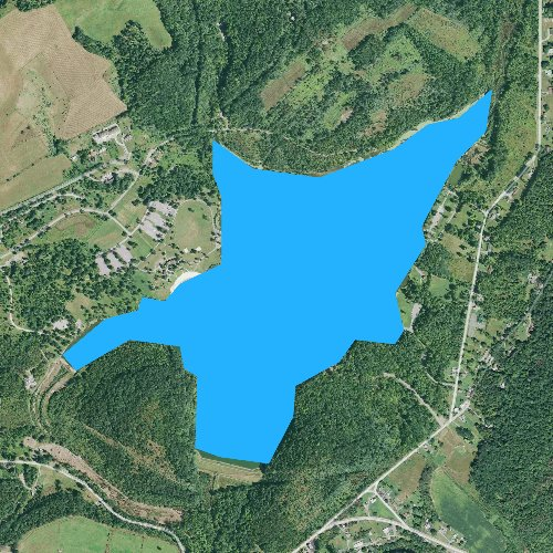 Fly fishing map for Canoe Creek Lake, Pennsylvania