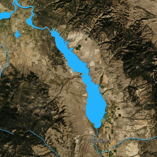 Fly fishing map for Canyon Ferry Lake, Montana