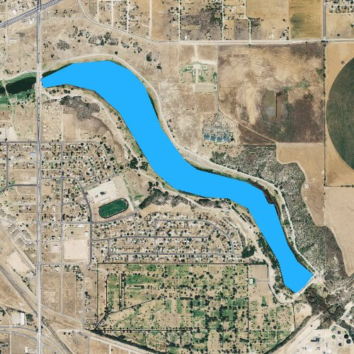 Fly fishing map for Canyon Lake Number 6, Texas