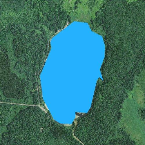 Fly fishing map for Carey Lake, Minnesota