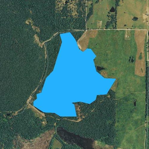 Fly fishing map for Cargile Lake, Arkansas