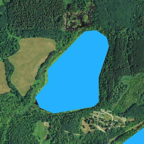 Fly fishing map for Carls Lake, Minnesota