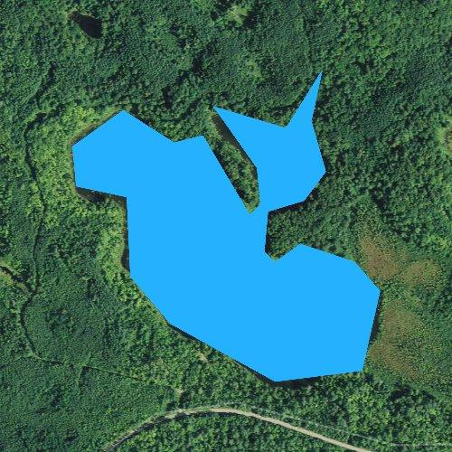 Fly fishing map for Carpenter Lake, Minnesota