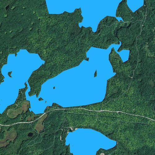 Fly fishing map for Carrol Lake, Wisconsin