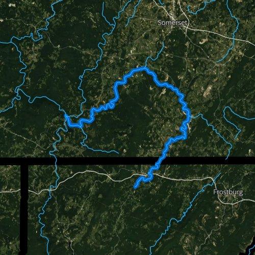 Fly fishing map for Casselman River, Pennsylvania