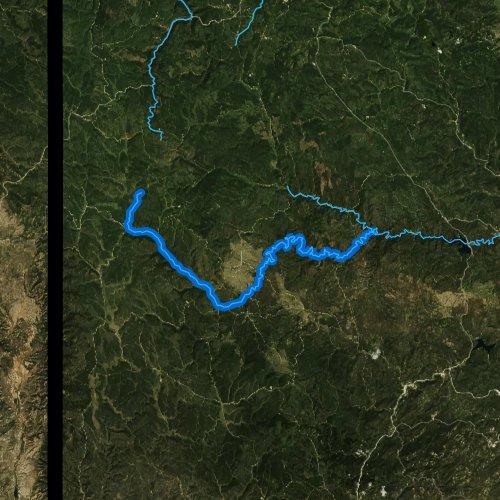 Fly fishing map for Castle Creek, South Dakota