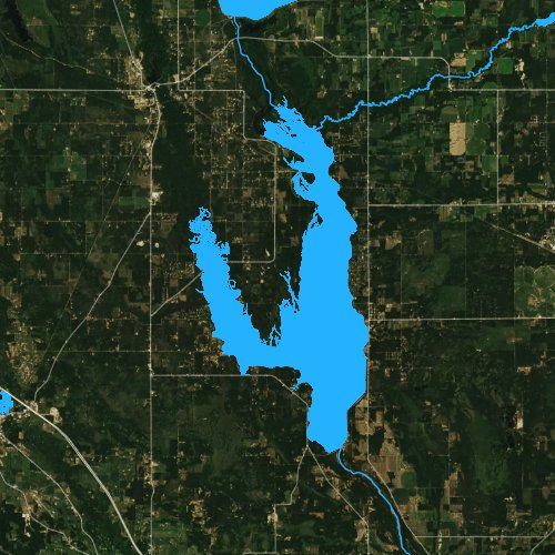 Fly fishing map for Castle Rock Lake, Wisconsin