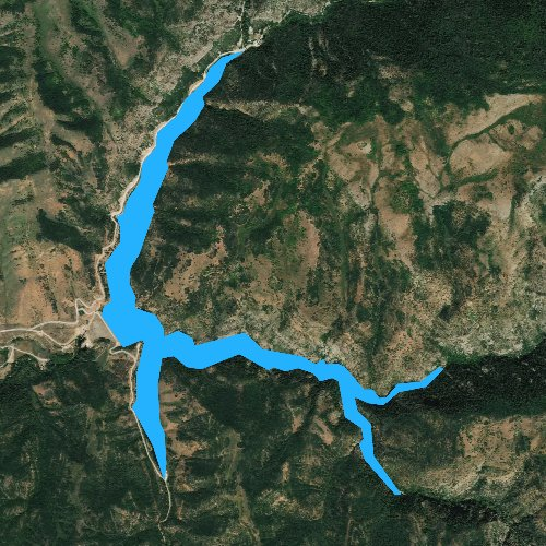 Fly fishing map for Causey Reservoir, Utah