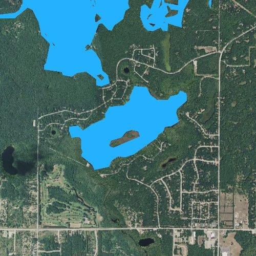 Fly fishing map for Cedar Hedge Lake, Michigan