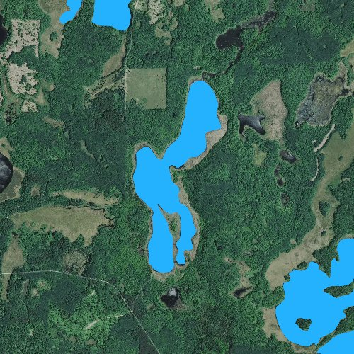 Fly fishing map for Cedar Lake: Cass, Minnesota