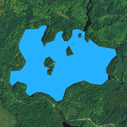 Fly fishing map for Cedar Lake, Wisconsin