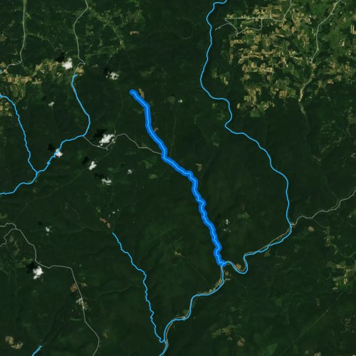 Fly fishing map for Cedar Run, Pennsylvania