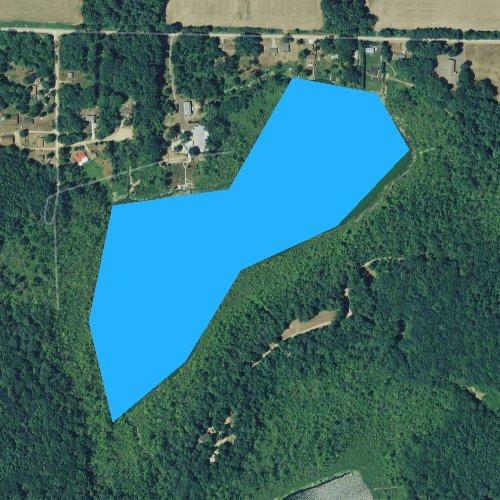 Fly fishing map for Chain Lake, Michigan
