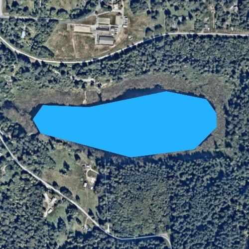 Fly fishing map for Chain Lake, Washington