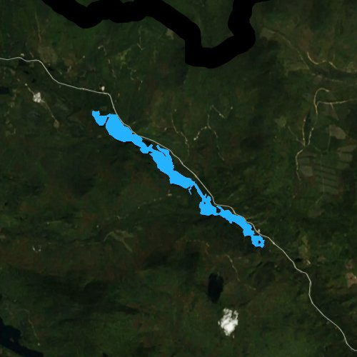 Fly fishing map for Chain of Ponds, Maine