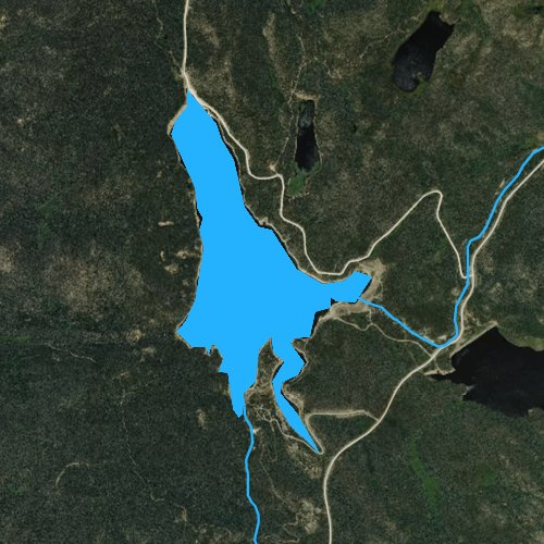 Fly fishing map for Chambers Lake, Colorado