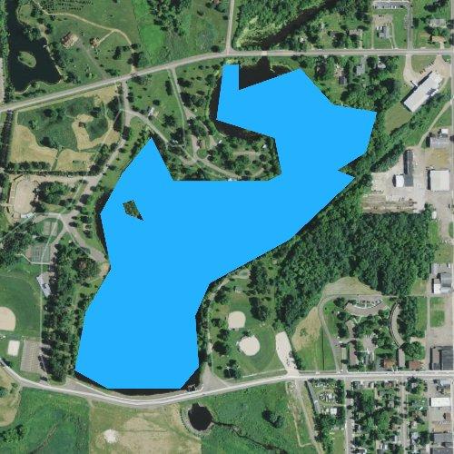 Fly fishing map for Chapman Lake, Wisconsin