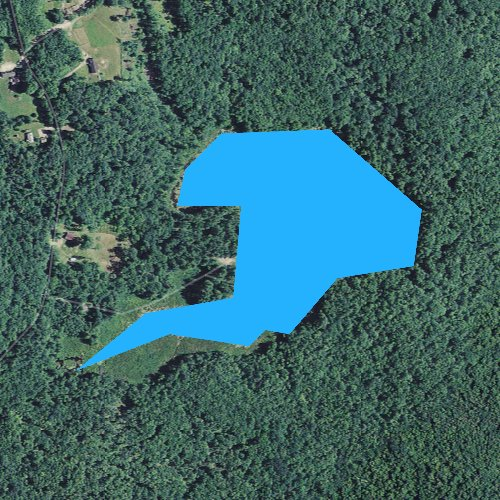 Fly fishing map for Chapman Pond, New Hampshire