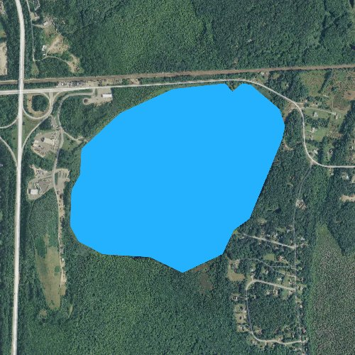 Fly fishing map for Chapman Pond, Rhode Island