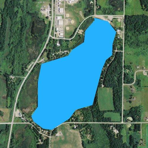 Fly fishing map for Charlotte Lake, Minnesota