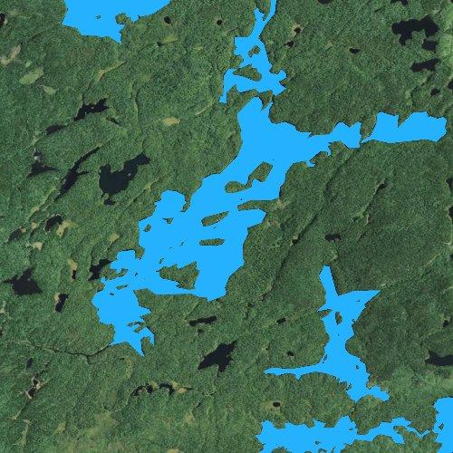 Fly fishing map for Cherokee Lake, Minnesota